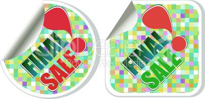 Final sale - best vector discount sale stickers set