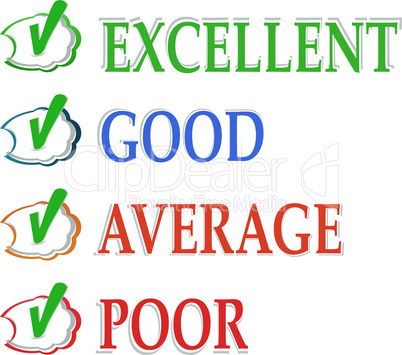 Vector concept of good credit score for business