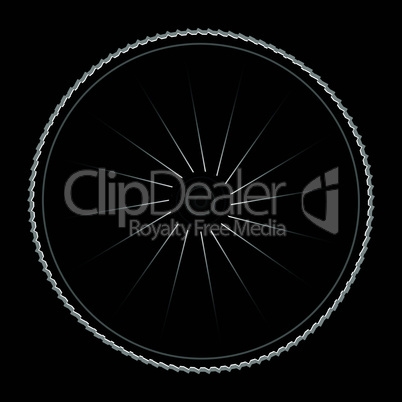 Bike wheel - vector illustration on black background