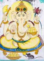 Hindu elephant-headed God.