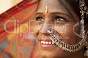 Happy Indian woman