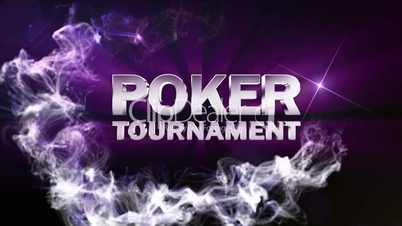 POKER TOURNAMENT Text in Particle (Double Version) Blue - HD1080