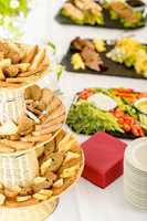 Bread selection catering buffet served food
