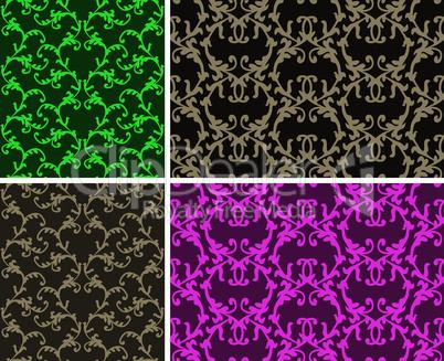 Two elegant seamless patterns