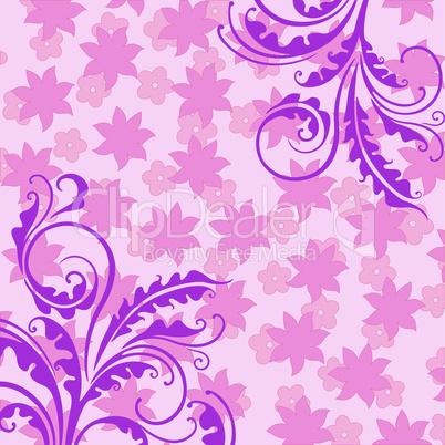 Decorative pink floral background