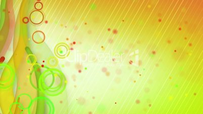 particles lines orange green loop background