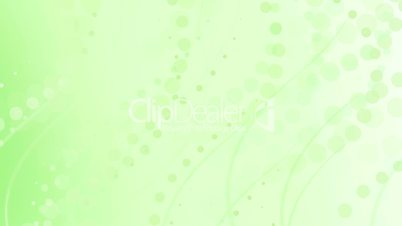 pale lime green curves and circles abstract background loop