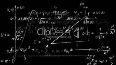 math physics formulas black and white loopable