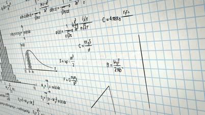 math physics formulas on squared paper panning loop
