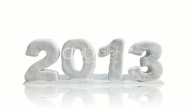 greetings new year 2013 clay modeling alpha