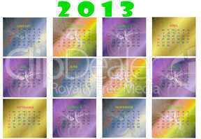 Календарь на 2013 год, новый год