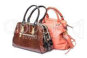 Two Leather Ladies Handbag