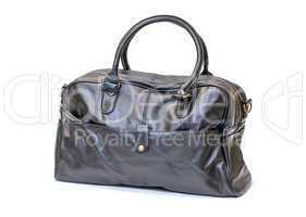 Black Leather Man Handbag