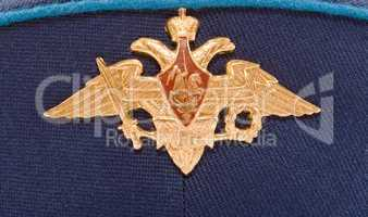 Insignia on russian officer cap (Air Force)