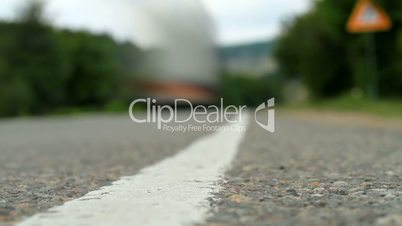 Timelapse movement of vehicles on the road