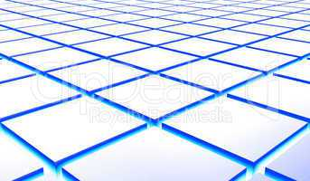 3D Struktur - Quader Blau Silber