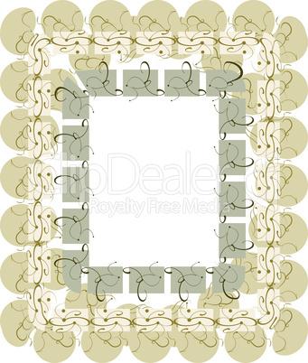 vintage template with floral retro vintage frame