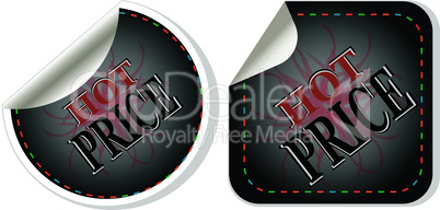 Hot price stickers set - vector label tag