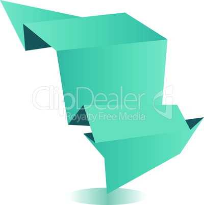 Abstract origami paper speech bubble vector background