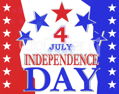 USA Independence Day Design - usa greetings vector background