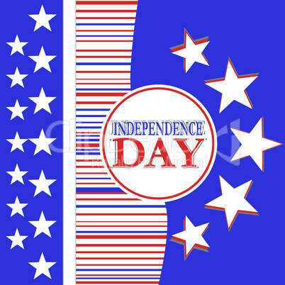 Usa independence day design - vector background