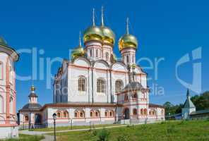 Orthodox church. Iversky monastery in Valday, Russia