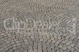 Cobblestone road background