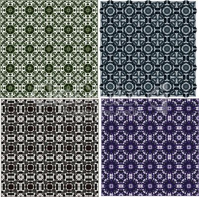 stylish seamless geometrical backgrounds pattern set. vector