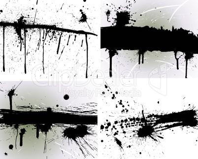 grunge vector blob set