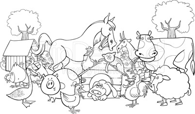 farm animals for coloring: Lizenzfreie Bilder und Fotos