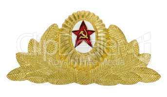 Insignia on soviet officer cap