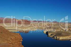 View of Colorado River from Hite overlook, Utah