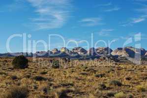 Beautiful rock hills near Notom, Utah