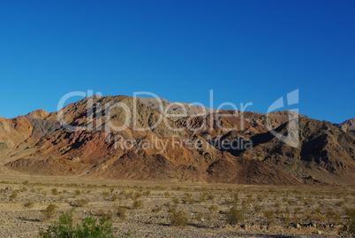 Desert and coloured mountain range, Death Valley, California