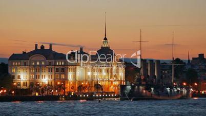 Nakhimov School and Cruiser Aurora