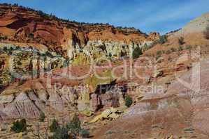 Incredible colours along Burr Trail Road, Utah