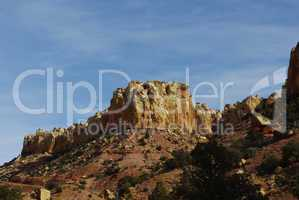 Red sandstone, yellow and white rocks and towers on Burr Trail Road, Utah