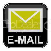 Glossy Button schwarz - E-Mail