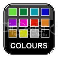 Glossy Button schwarz - Farben