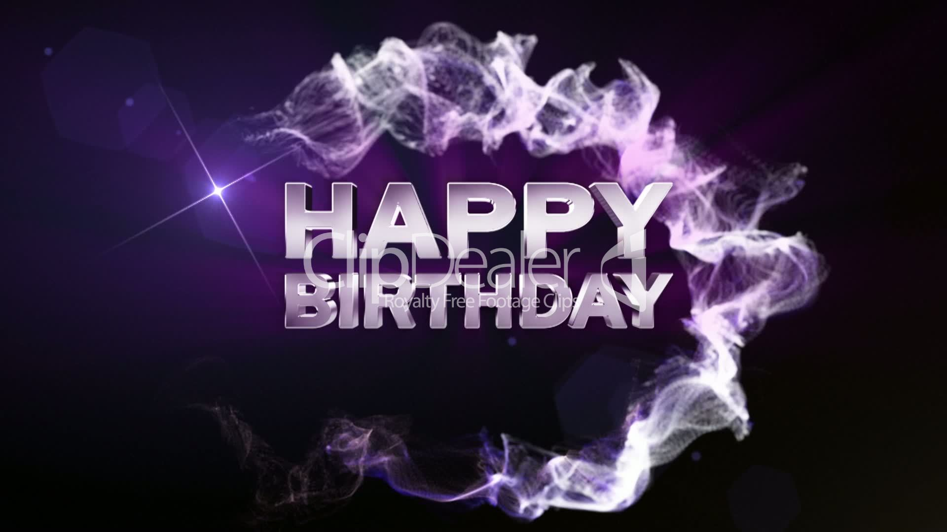 happy birthday text particle double version blue hd royalty video stock footage