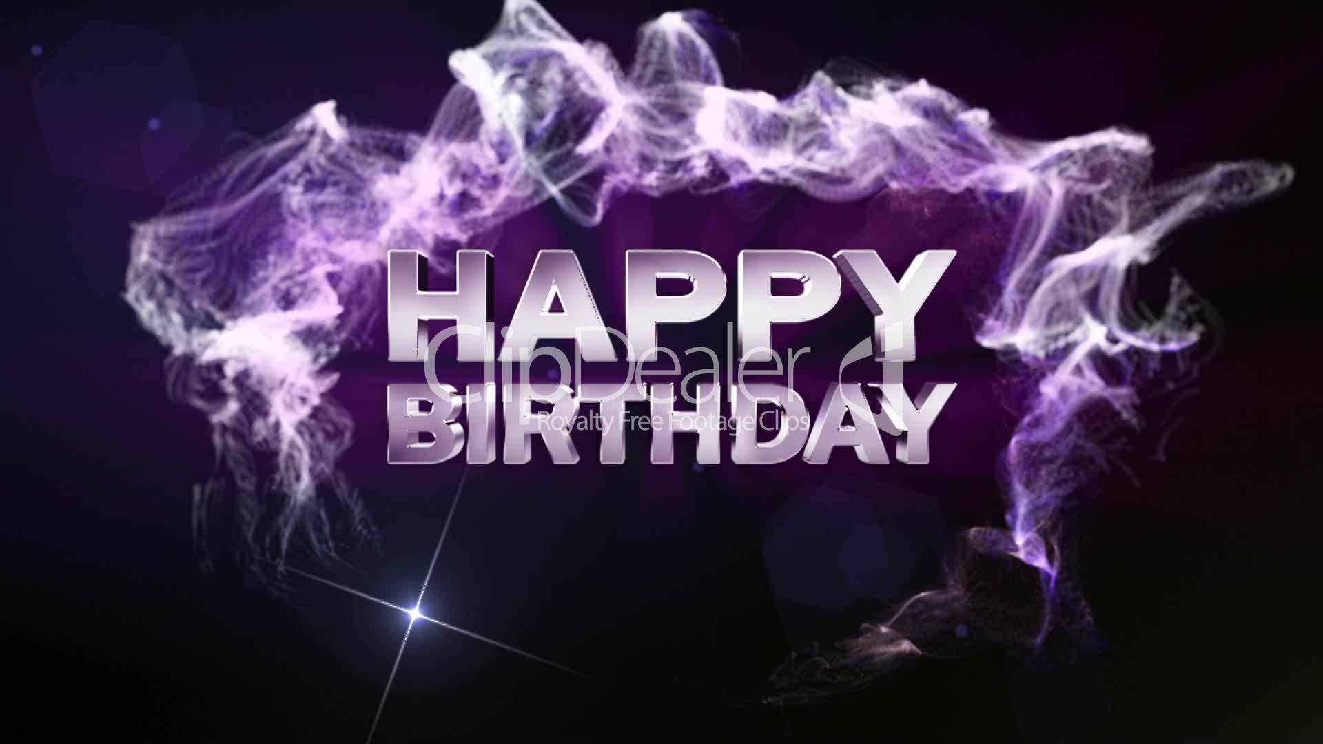 HAPPY BIRTHDAY Text In Particle (Double Version) Blue