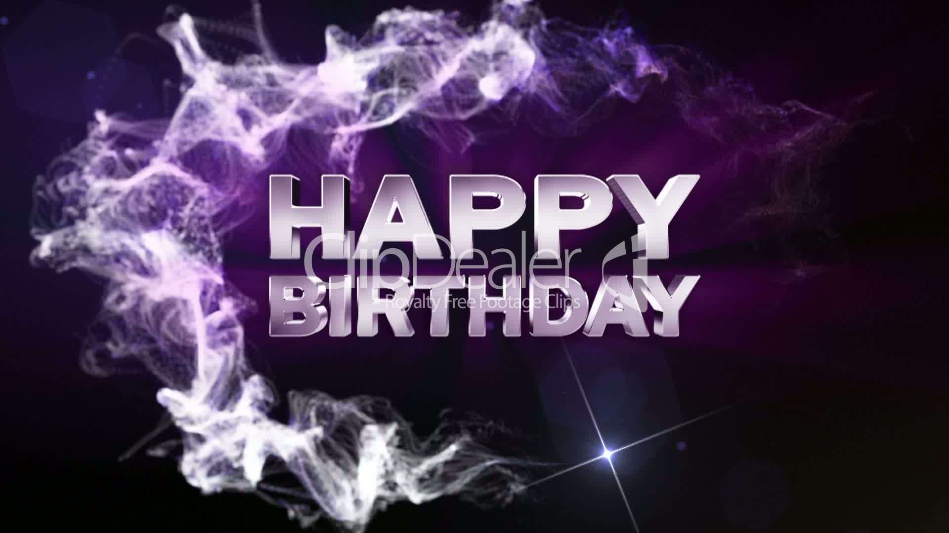 HAPPY BIRTHDAY Text in Particle (Double Version) Blue ...