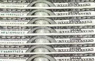 Heap of dollars, money background.