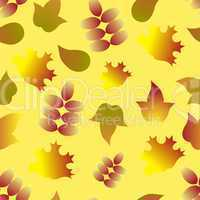 seamless pattern with autumn colorful leafs
