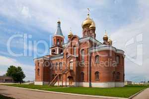 View of beautiful church in Samara region, Russia
