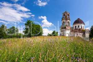 Old deserted church in Novgorod region, Russia