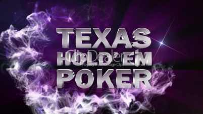 POKER HOLD'EM Text in Particle (Double Version) Blue - HD1080