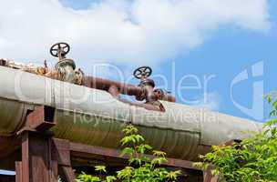 Pipeline over blue sky background