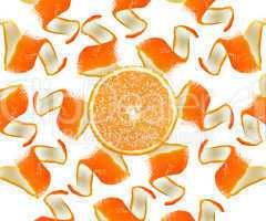 Orange peel and slice