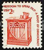 Postage stamp USA 1975 Speaker?s Stand